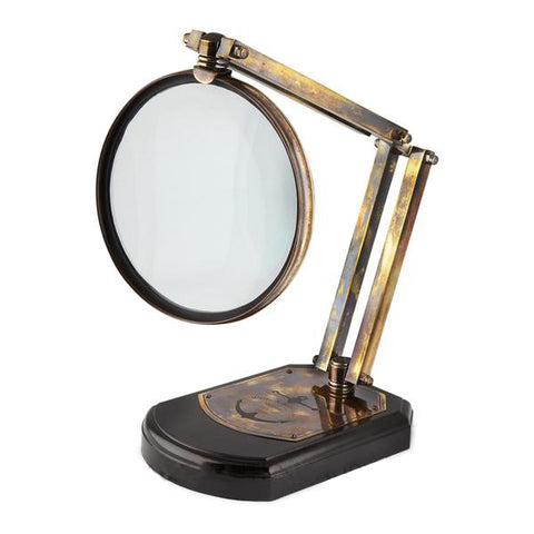 Magnifying Glass on Wooden Stand