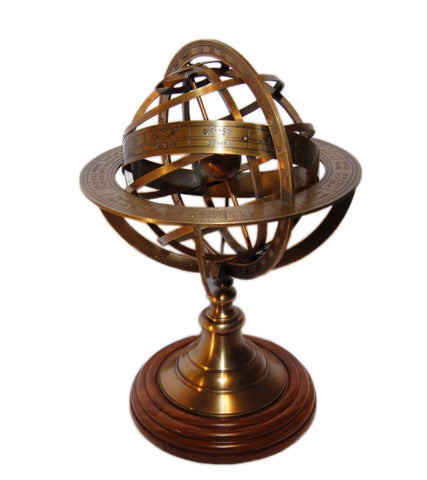 Brass Armillary (Astro Globe) - Medium