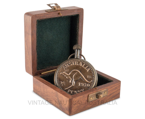 Vintage Nautical-Australian 1930 Penny Style Pocket Watch-PW100-The Best Handy Crafts