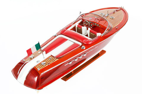 Riva Aquarama - Red/White Seat Boat Model-The Best Handy Crafts