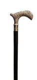 Chrome Etched Handle Black Walking Stick TI-W012N-The Best Handy Crafts