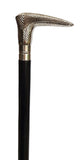 Chrome Etched Handle Black Walking Stick TI-W026N-The Best Handy Crafts