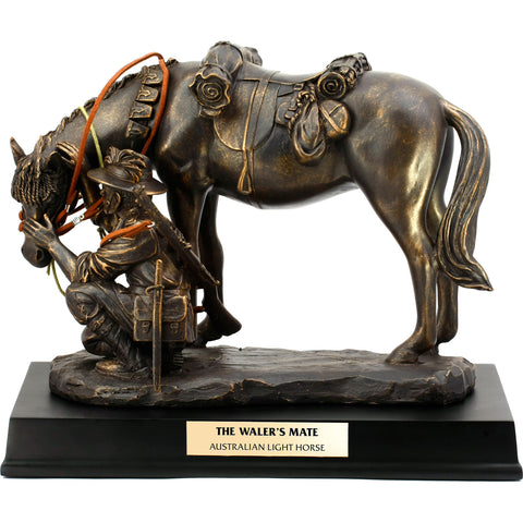 Master Creations-The Waler's Mate Light Horse Figurine-MS45627L-The Best Handy Crafts