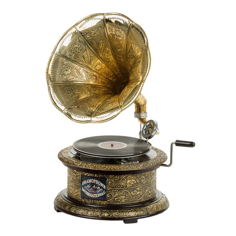 Circular Etched Golden Gramophone