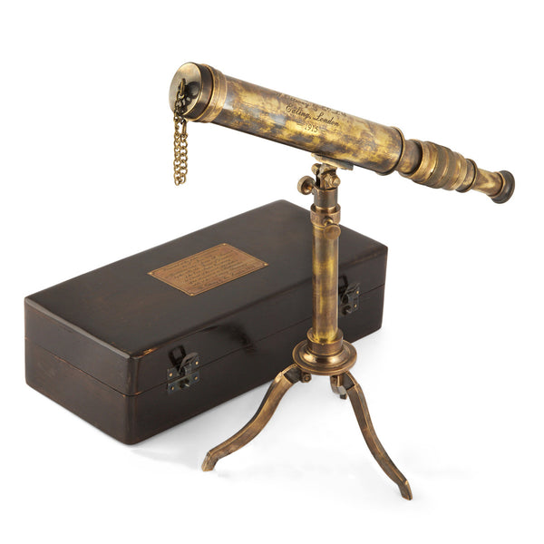 Folding Tripod Stand Brass Telescope