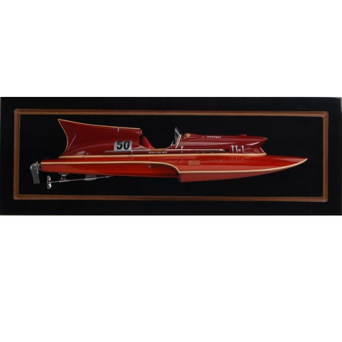 Best Handy Crafts AM Thunderboat Speed Boat Model - Half Hull WSC002