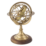 Set of 3 Brass Armillaries (Astro Globes)-The Best Handy Crafts