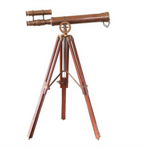 Small Double Barrel Telescope With Tripod Stand