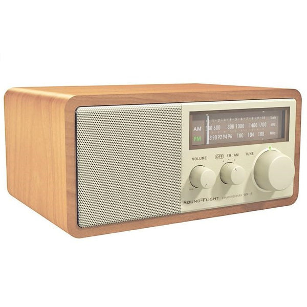 SoundFlight Retro Radio Walnut Wood AM/FM RESFWR-11