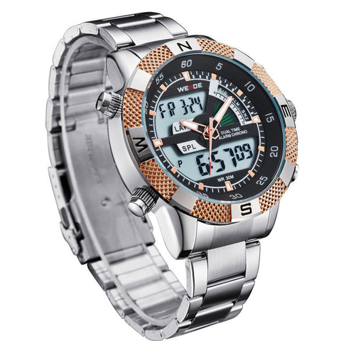 Men's LED Stainless Steel Watch