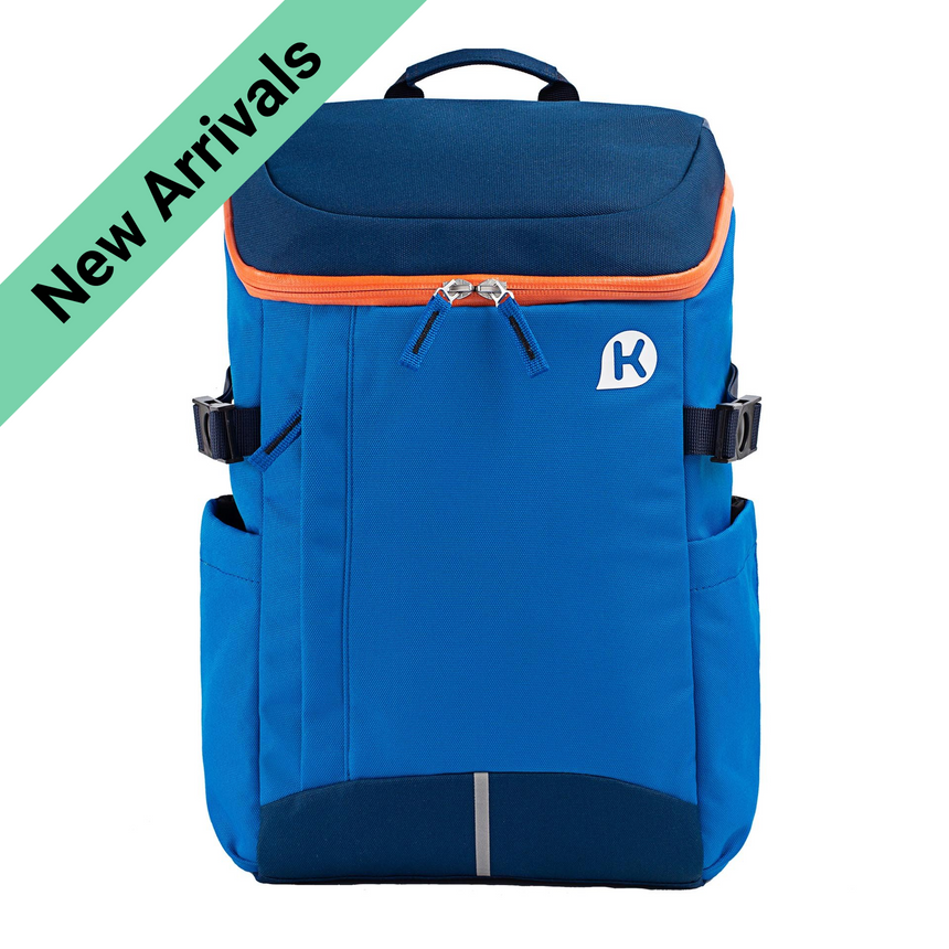 DUSTIN Series 2 Ergonomic School Backpack for Primary School Pupils - Blue/ Orange