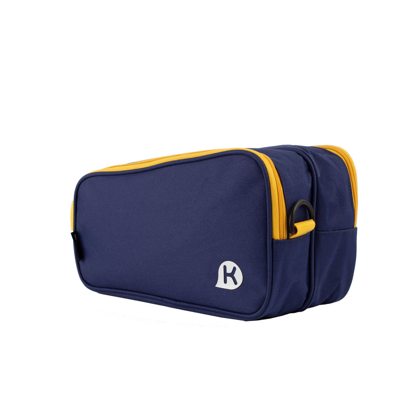 BRETT Series Dual Compartment Shoe Bag w/ Strap - Blue