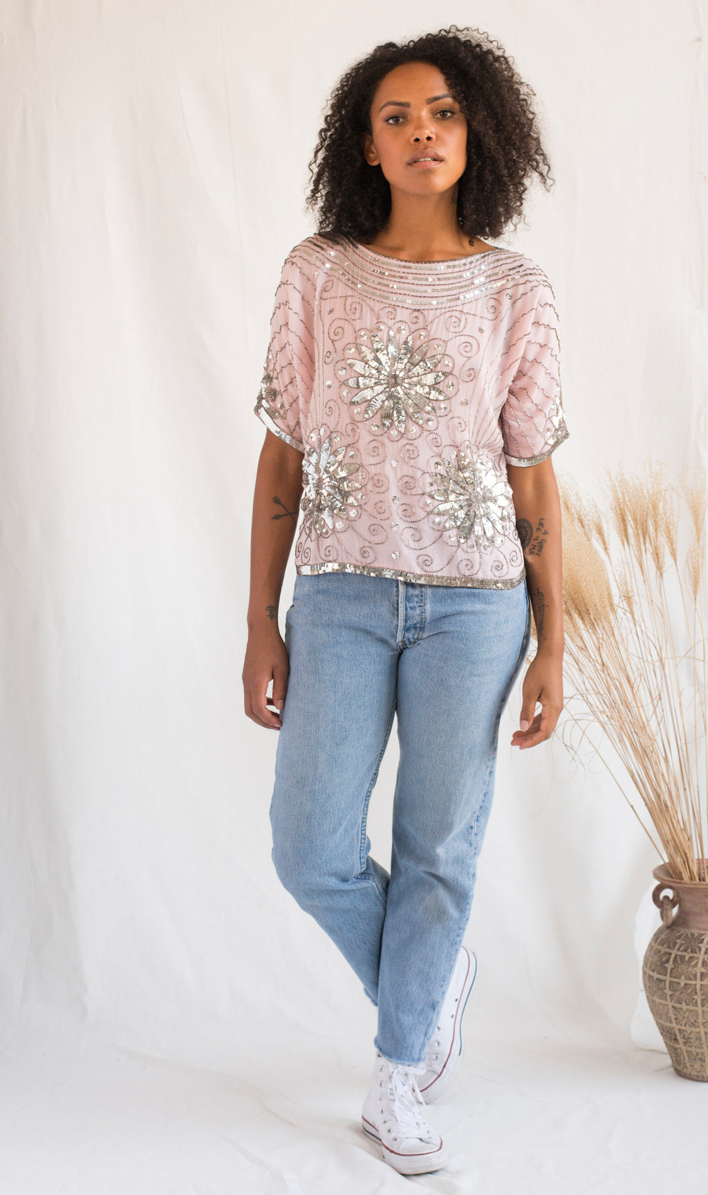 Boatneck Beaded Top - Femmes des Lunes