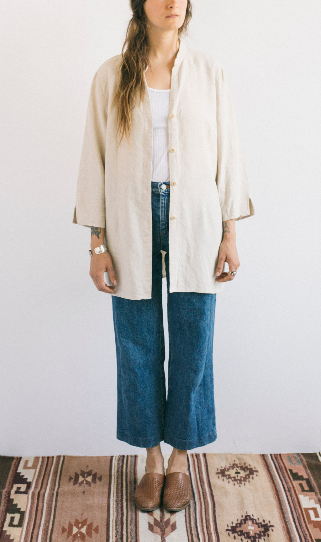 Linen button up Jacket - Femmes des Lunes