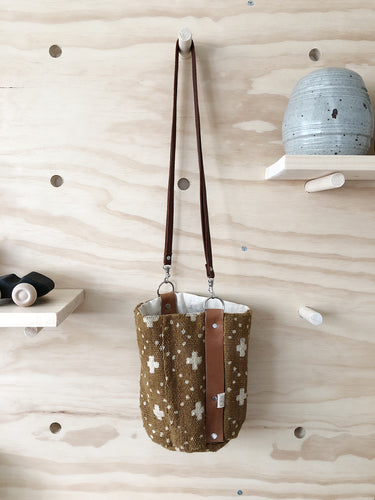 Girls Bucket Bag, Brass Hardware