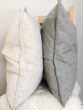 Wool Pillow Cover, Heathered Charcoal