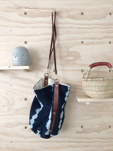 Large Bucket Bag, Brass Hardware