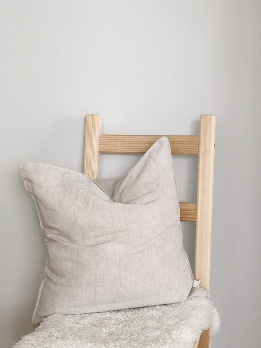 Linen Pillow Cover, Oatmeal