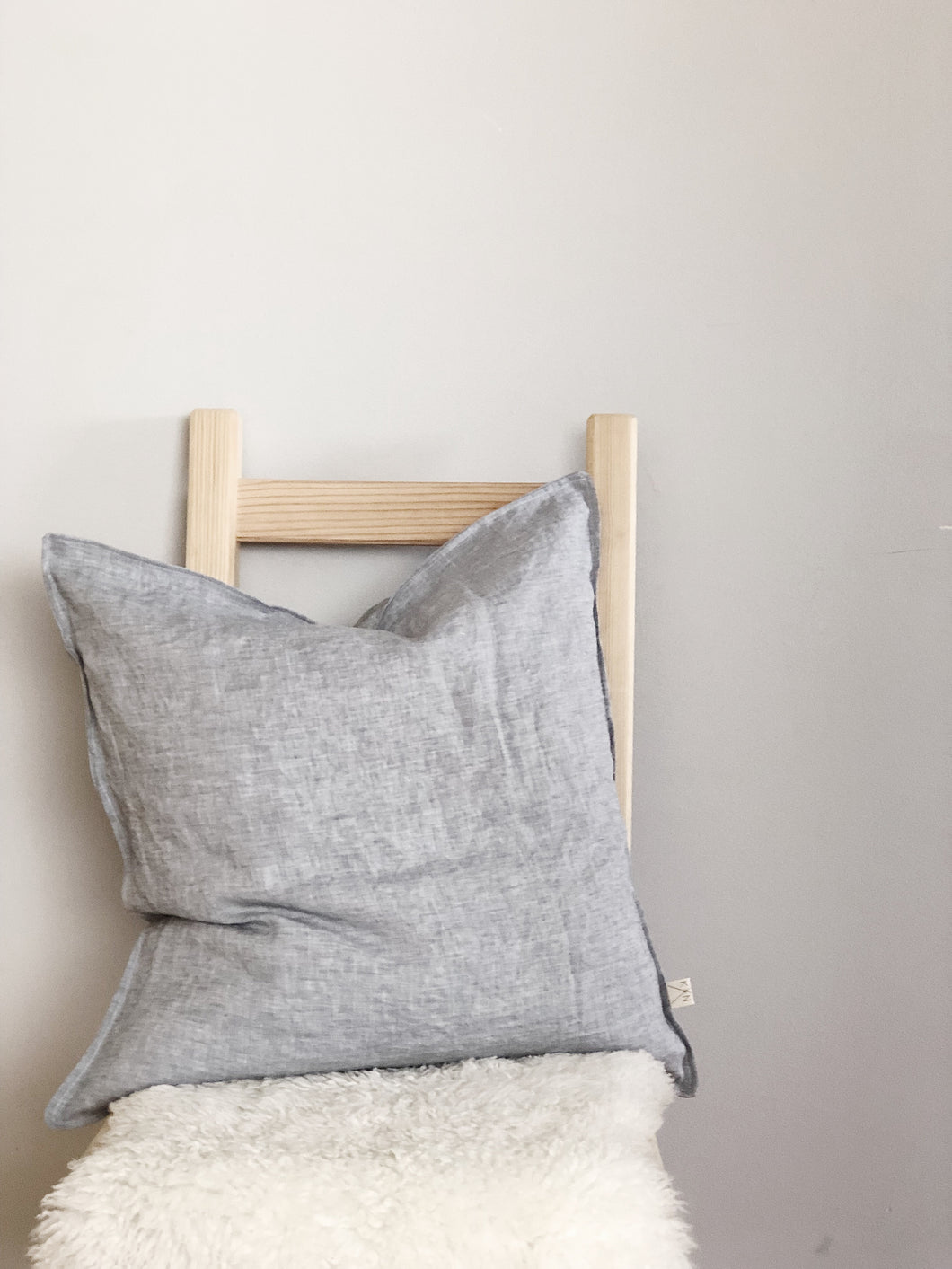Linen Pillow Cover, Grey