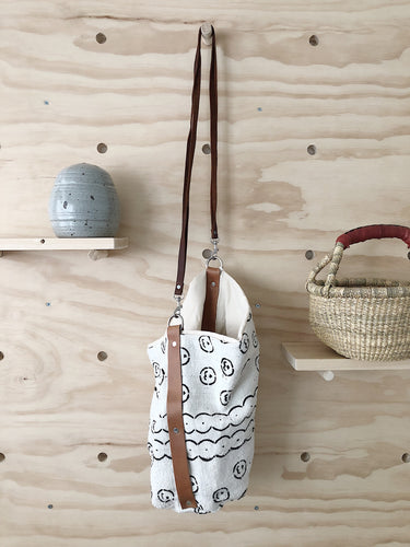 Large Bucket Bag, Silver Hardware