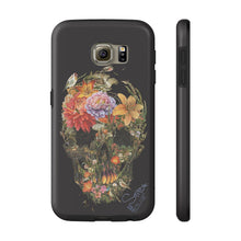 Flower Skull by Dmitry Ligay Samsung Galaxy Cases