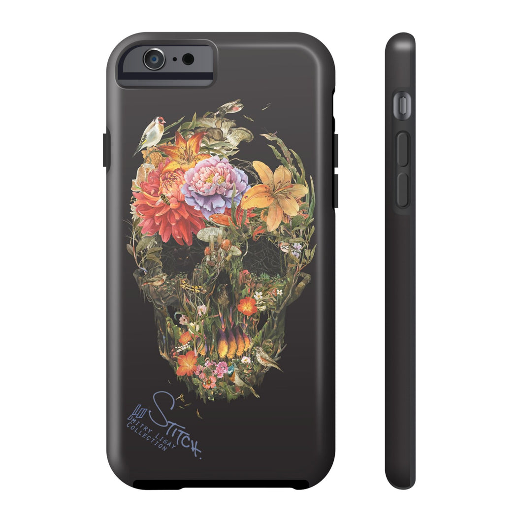 Flower Skull by Dmitry Ligay iPhone Tough Case