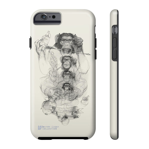 Grenade Monkey by Dmitry Ligay iPhone Tough Case