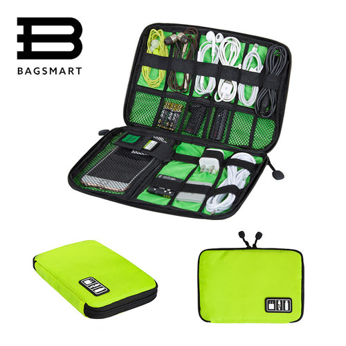 Quip Travel Gear - Electronics Storage Travel Bag Green