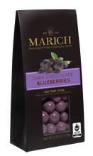 Marich Chocolates Trio Gift Set Chocolate Covered Fruits Collection (Dark and White Chocolate Strawberries, Dark Chocolate Blueberries, and Milk Chocolate Cherries) Gable Box 4.25 Oz. Each (Pack of 3)