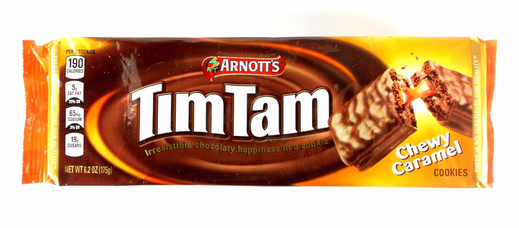 Australian Tim Tam Caramel Chocolate Biscuits by Arnott's 6.2 oz.
