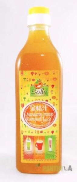 Bolle Mandarin Orange (Kumquat) Premium Fruit Syrup for Bubble Tea, Cocktail, Drinks 42.24 Fl. Oz.