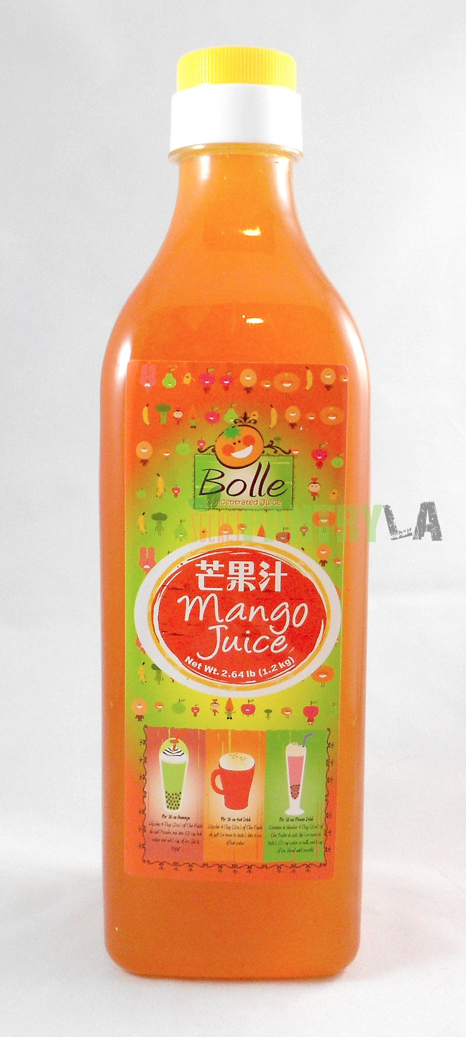 Bolle Premium Mango Fruit Syrup for Bubble Tea, Cocktail, Drinks 42.24 Fl. Oz.