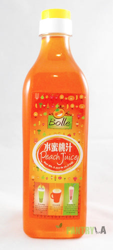 Bolle Premium Peach Fruit Syrup for Bubble Tea, Cocktail, Drinks 42.24 Fl. Oz.