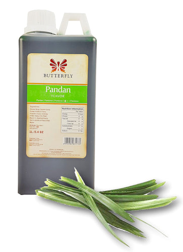 Butterfly Pandan Paste Flavoring Extract Restaurant Size 1 Liter/34 Fl. Oz. Factory Case (Pack of 10)