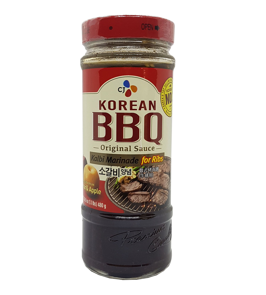 CJ Korean BBQ Sauce Kalbi Marinade for Ribs 17.6 Oz.