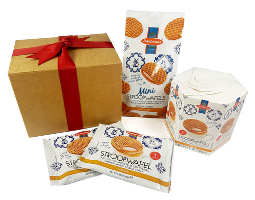 Dalemans Dutch CARAMEL Stroopwafels Wafer Bundle 4-Piece Gift Set