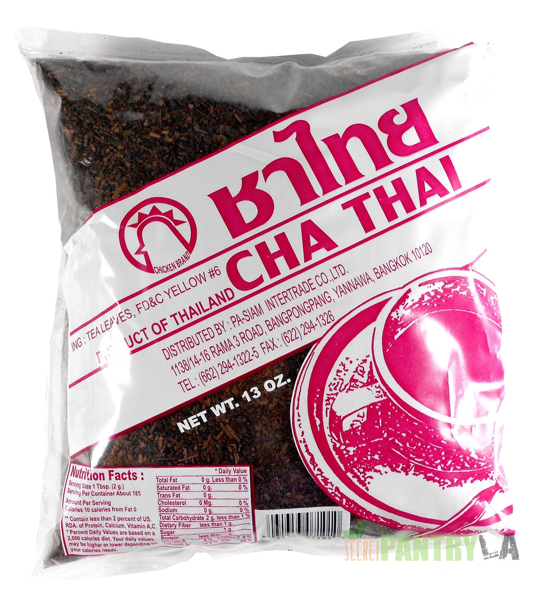 Cha Thai Tea Leaves Mix Chicken Brand 13 Oz.