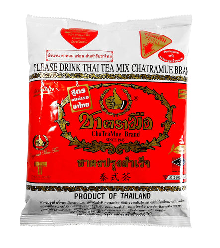 Number One ChaTra Mue Thai Tea Leaves Mix Red Label 14 Oz.