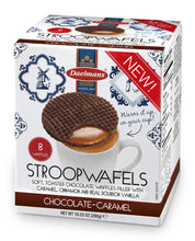Dalemans Dutch Chocolate Stroopwafels Jumbo Size Cube Box 10.23 Oz.