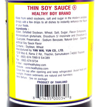 Healthy Boy Brand Thin Soy Sauce 23.5 Fl. Oz. X 12 Factory Case