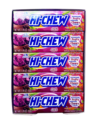 Hi-Chew Stick Acai with Chia Seeds Chewy Fruit Candy by Morinaga (Pack of 5)