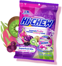 Hi-Chew Superfruit Mix Fruits Chewy Candy Bag by Morinaga 3.17 Oz.
