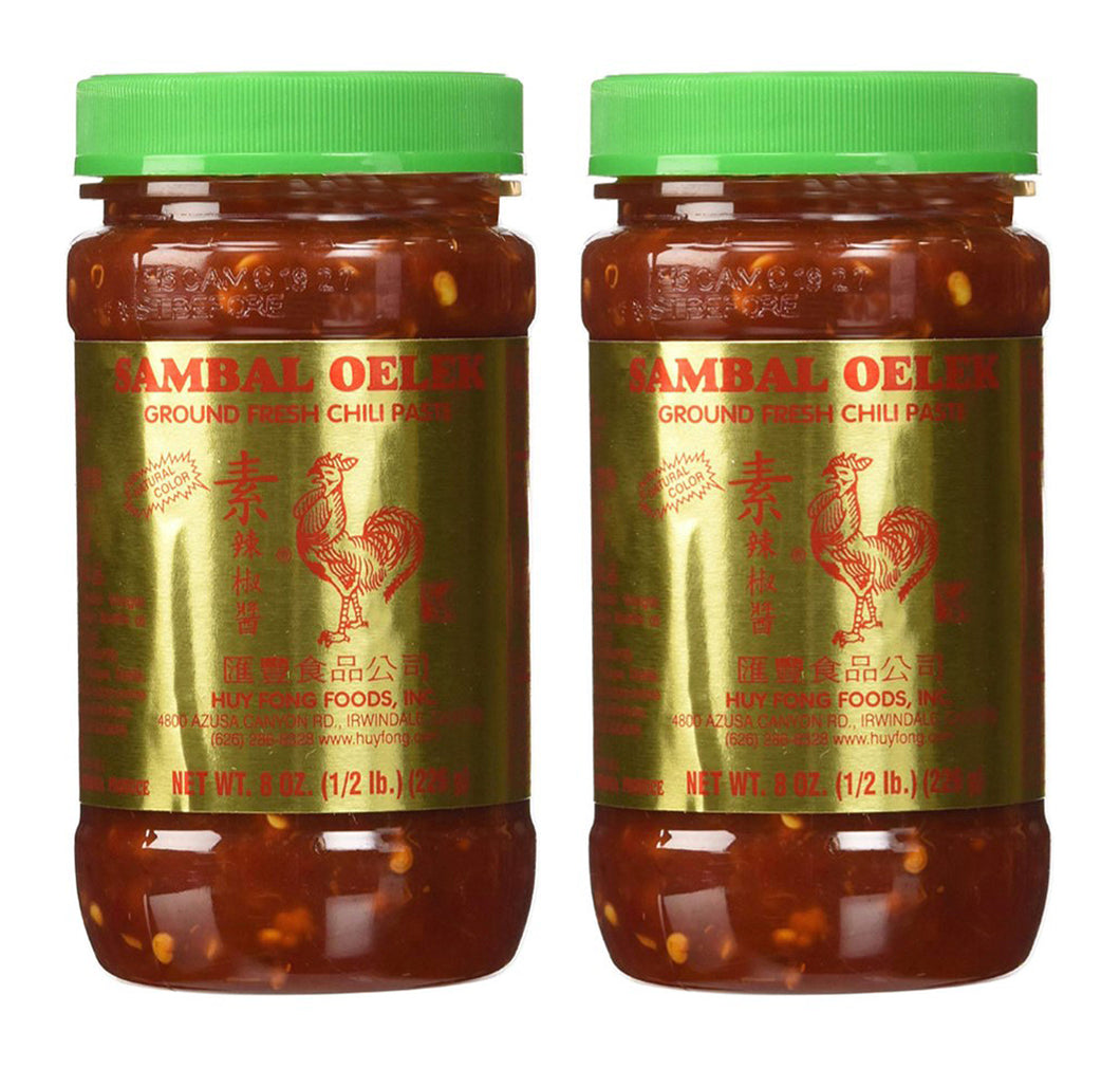 Huy Fong Sambal Oelek Ground Fresh Chili Paste 8 Oz. (Pack of 2)