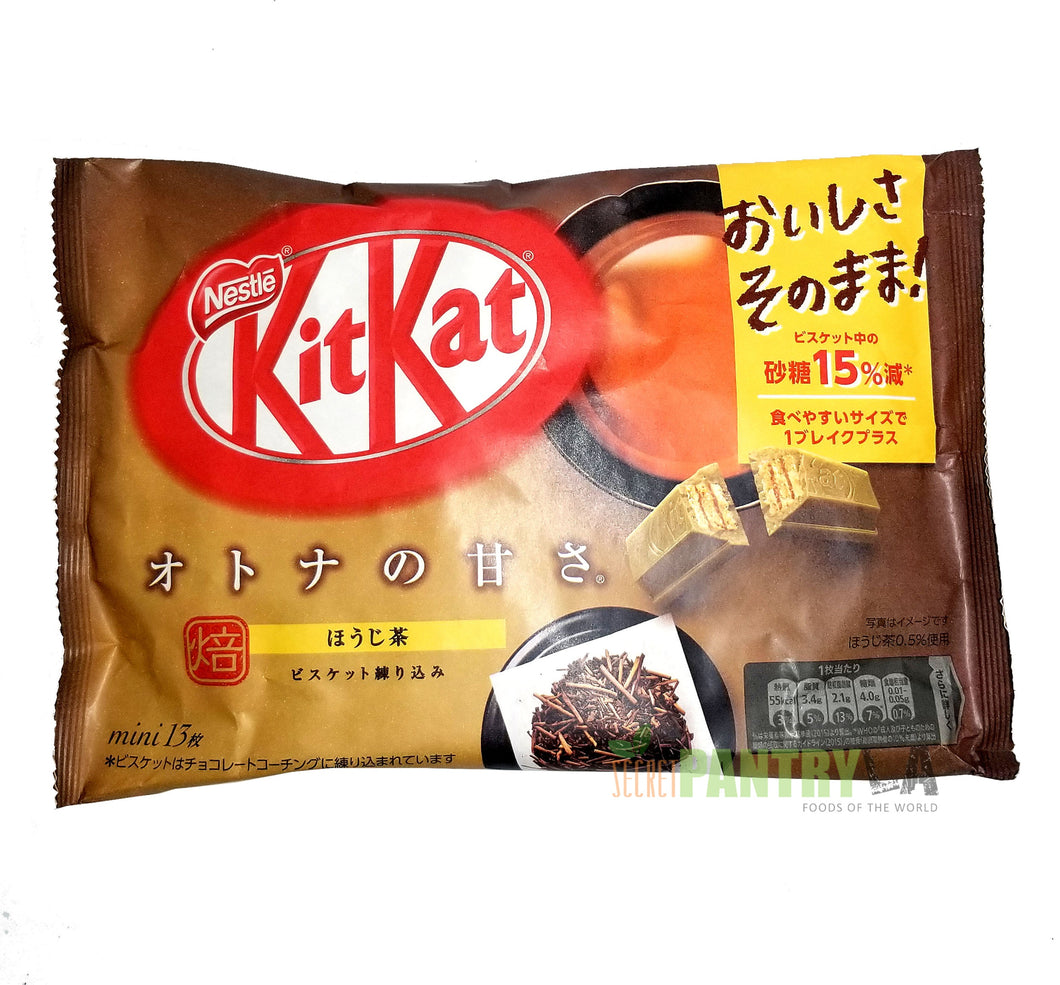 Japanese Kit Kat  HOJICHA (Roasted Green Tea) Limited Edition 13 Mini Bars 4.4 Oz.