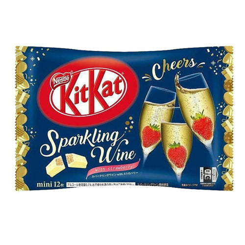 Japanese Kit Kat  SPARKLING WINE with Strawberry Limited Edition 12 Mini Bars 4.1 Oz.