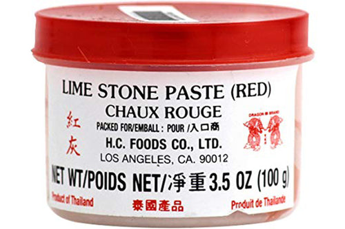 Red Lime Stone Paste 3.5 Oz.