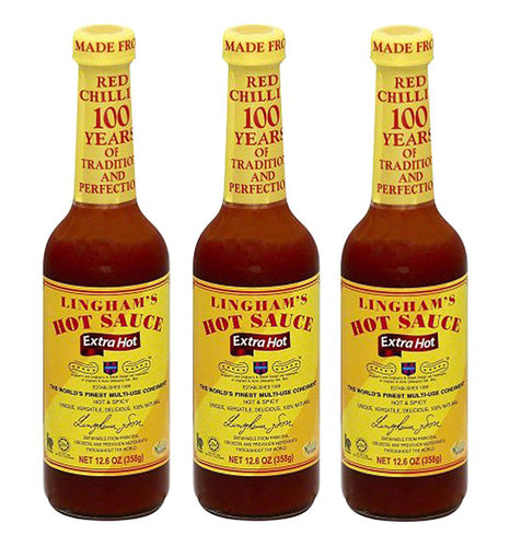 Lingham's Hot Sauce Extra Hot 12.6 Oz (Pack of 3)