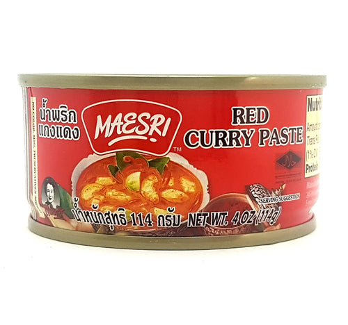 Mae Sri Authentic Thai Red Curry Paste 4 Oz. (Pack of 4)