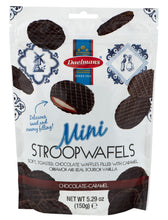 Dalemans Dutch Mini Chocolate-Caramel Stroopwafels Wafer Resealable Stand-Up Bag 5.29 Oz.