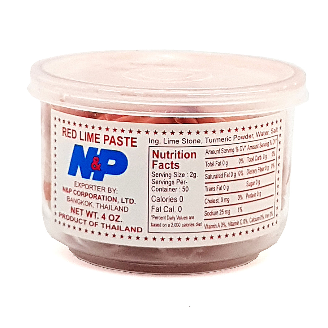Red Lime Stone Paste 4 Oz. by N & P